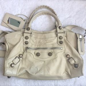 Balenciaga City Tote with Silver Large Studs